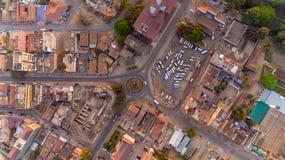 Vue a?rienne de la ville de Morogoro photographie stock libre de droits