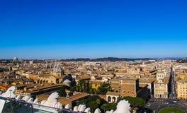Vue a?rienne de la ville Rome Italie de monument de Vittorio Emanuele II en hiver 2012 photo stock
