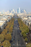 Vue a?rienne de rue de Paris Images stock