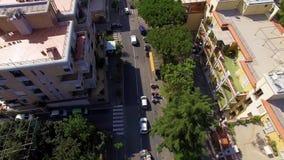 Vue a?rienne de ville de Sorrente, m?ta, c?te de piano, Italie, rue de vieille ville de montagnes, concept de tourisme banque de vidéos