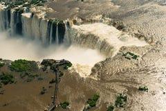 Vue a?rienne des chutes d'Igua?u photo libre de droits