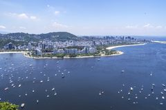 Vue Rio de Janeiro de baie de Guanabara photos libres de droits
