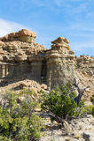 Vue rocheuse dans le sud-ouest de désert Photo stock