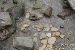 Vue rocheuse de côte d'en haut photo stock