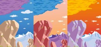 Vue rocheuse réglée : Image libre de droits