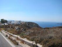 Vue romantique de Santorini Photos libres de droits