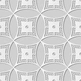 vue ronde Dot Line de croix de cercle d'art du livre blanc 3D Photographie stock libre de droits