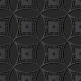 vue ronde Dot Line de croix de cercle de l'art 3D de papier foncé Images stock
