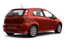 Vue rouge de dos de véhicule de berline avec hayon arrière Photographie stock libre de droits