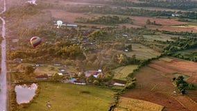 Vue rurale aérienne de lever de soleil de paysage banque de vidéos