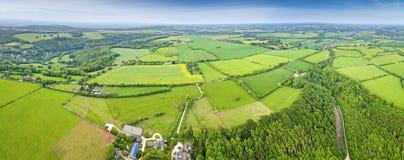 Vue rurale et aérienne idyllique, Cotswolds R-U Images libres de droits