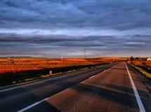 Vue sans voix d'un beau coucher du soleil photo stock