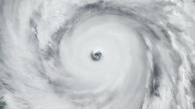 Vue satellite aérienne d'ouragan illustration libre de droits