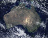 Vue satellite continente de l'espace d'Australie illustration stock