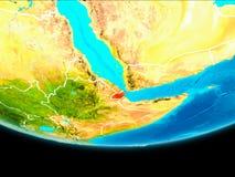 Vue satellite de Djibouti Photos libres de droits