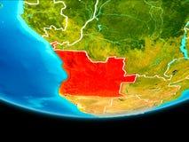 Vue satellite de l'Angola illustration stock