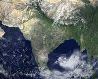 Vue satellite de l'espace d'Inde, Asie photographie stock