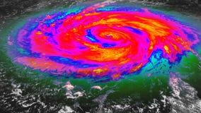 Vue satellite infrarouge d'ouragan illustration libre de droits
