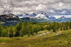 Vue sauvage de gamme de montagne de paysage, parc national de Banff, Canada Photo stock