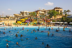 Vue sauvage de Wadi Water Park Photo stock