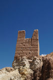 Vue scénique étonnante - tour ruinée isolée de fortr antique de Basgo Photos libres de droits