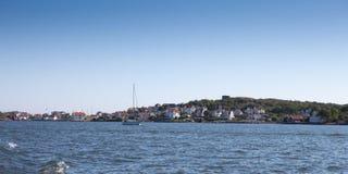 Vue scénique au-dessus d'une partie de la côte ouest suédoise Photographie stock libre de droits
