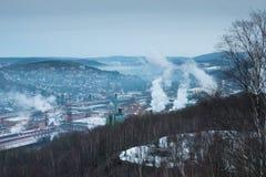 Vue scénique au-dessus de Siegen-Geisweid, Allemagne images libres de droits