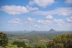 Vue scénique d'Australie de côte de soleil de montagnes de serre Photos libres de droits