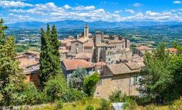 Vue scénique dans Falvaterra, beau village dans la province de Frosinone, Latium, Italie centrale image stock