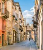 Vue scénique dans Sciacca, province d'Agrigente, Sicile, Italie image stock
