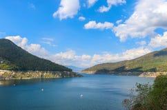Vue scénique de barrage Tak, Thaïlande de Bhumibol de lac mae Ping Images stock