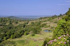 Vue scénique de côte de soleil d'hinterland Images libres de droits
