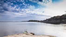 Vue scénique de côte suédoise Photo libre de droits