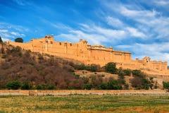Vue scénique de fort d'ambre ou d'Amer à Jaipur, Inde Photographie stock libre de droits