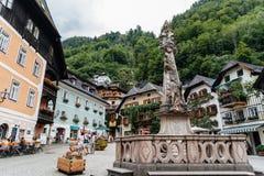 Vue scénique de Hallstatt dans les Alpes autrichiens image libre de droits