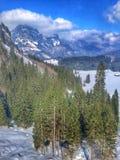 Vue scénique de l'hiver Images stock