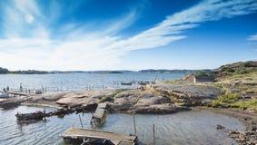 Vue scénique de la côte suédoise 2 Photos libres de droits