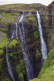 Vue scénique de la cascade de Glymur - la cascade en second lieu la plus haute o Image stock