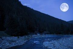 Vue scénique de nuit Image libre de droits