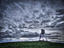 Vue scénique de panorama de paysage naturel sous un ciel nuageux photo libre de droits