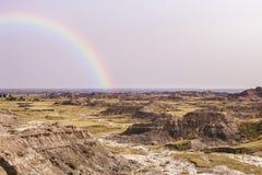 Vue scénique de parc national de bad-lands photographie stock