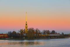 Vue scénique de Peter et de Paul Fortress à St Petersburg, Russie images stock