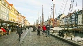 Vue scénique de pilier de Nyhavn photographie stock libre de droits