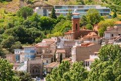 Vue scénique de vieille ville de Tbilisi, la Géorgie Photographie stock