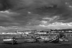 Vue scénique de village de Mont Ste-Anne photographie stock