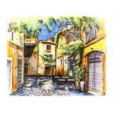 Vue scénique de ville de Rome, Italie illustration stock
