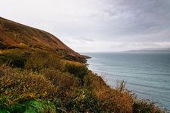 Vue scénique des falaises dans la côte de l'Irlande photo stock