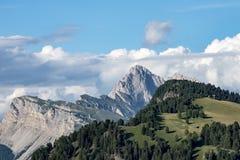 Vue scénique Dolomites Alpe di Siusi, Tyrol du sud Image libre de droits