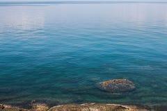 Vue scénique du fond de mer Photographie stock