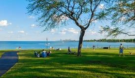 Vue scénique du lac Michigan images stock